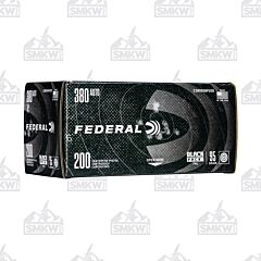 Federal Black Pack 380 Auto 95 Grain Full Metal Jacket 200 Rounds