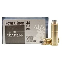 Federal Power-Shok 44 Rem Mag 240 Grain Jacketed Hollow Point 20 Rounds