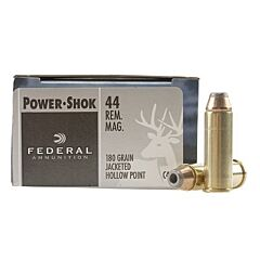 Federal Power-Shok 44 Mag 180 Grain Jacketed Hollow Point 20 Rounds