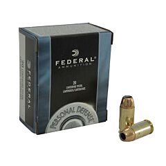 Federal Personal Defense 45 ACP 230 Grain Jacketed Hollow Point 20 Rounds