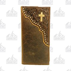 Twisted X Western Leather Rodeo Wallet with Cross
