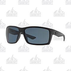 Costa Reefton Gray and Black Blackout Sunglasses
