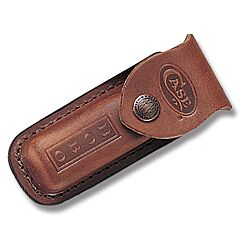 Case Brown Leather Sheath for 3-Blade Hobo Trappers Model 1049