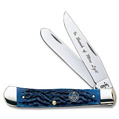 Case Blue Jigged Bone Masonic Trapper