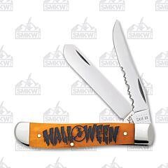 Case Halloween Persimmon Orange Smooth Bone Mini Trapper