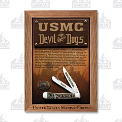 Case USMC Devil Dogs Natural Bone Trapper