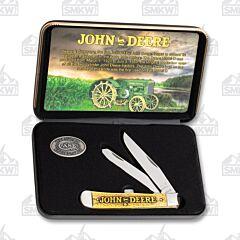 Case John Deere Natural Bone Trapper Gift Set