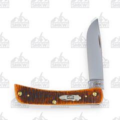 Case Sawcut Jigged Bearhead Amber Bone Sod Buster Jr