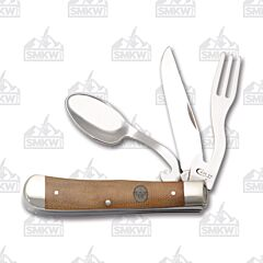 Case Boy Scouts of America Brown Canvas Laminate Hobo Tru-Sharp Surgical Steel Blade