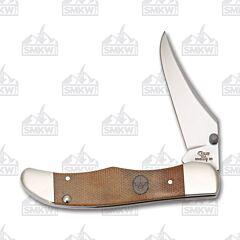 Case Boy Scouts Kickstart Natural Brown Canvas Laminate Handle Tru-Sharp Stainless Steel Blade
