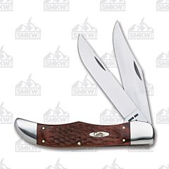 "Case Folding Hunter 5.25"" with Laminated Staminawood Handles and Tru-Sharp Surgical Steel Plain Edge Blades Model 00189"