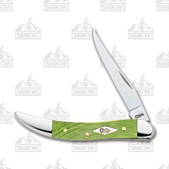 Case Kiwi Green Sawcut Jigged Bone Small Texas Toothpick