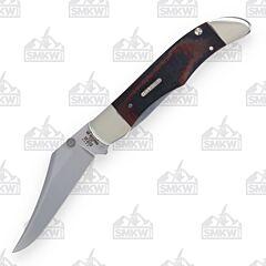 Case Black & Red Micarta Kickstart Mid-Folding Hunter