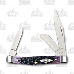 Case Purple Jigged Bone Medium Stockman