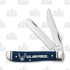 Case US Air Force Navy Blue Smooth Synthetic Mini Trapper