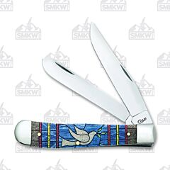 Case Dove Stained Glass Natural Bone Trapper Tru-Sharp Surgical Steel Blades