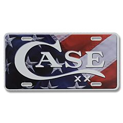 Case American Flag License Plate