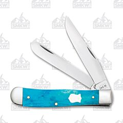 Case Caribbean Blue Smooth Bone Trapper