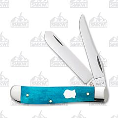 Case Caribbean Blue Smooth Bone Mini Trapper