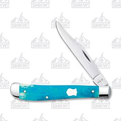 Case Caribbean Blue Smooth Bone Slimline Trapper