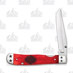 Case Harley Kickstart Trapperlock Red Smooth Bone