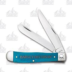 Case Harley-Davidson Caribbean Blue Bone Trapper