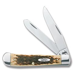 Case Amber Bone Chrome Vanadium Trapper