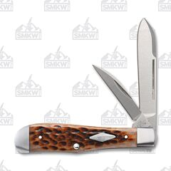 Case Bose Eureka Jack Knife with Jigged Brown Bone Handles and 154-CM Steel Blades Model 07424