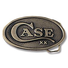 Case Oval Belt Buckle with Brass Finish Model