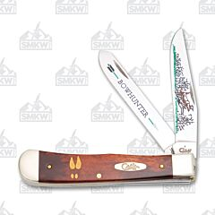 O/Case Smooth Chestnut Bone Bowhunter Trapper Tru-Sharp Surgical Stainless Steel Blades Chestnut Bone Handle