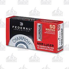 Federal 115 Grain Full Metal Jacket Aluminum Case 50 count 9MM Luger
