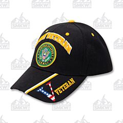 Army Veteran Emblem Velcro Back Cap
