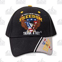 Love Freedom Thank A Vet Cap