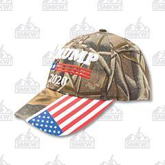 Trump 2020 Camo Hat American Flag