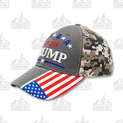 Trump 2020 Digital Camo Hat American Flag