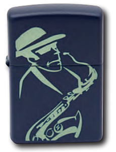 Zippo Blue Matte Jazz Lighter