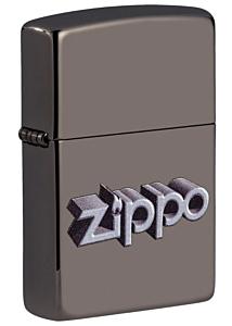 Zippo 3D Logo Black Ice Lighter
