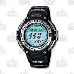 Casio Men's Classic Twin Sensor Digital Black Watch