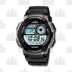 Casio Men's Sports Digital Silver and Black Watch