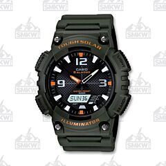 Casio Men Tough Solar Quartz OD Green Watch