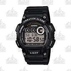Casio W735 Black and White Watch