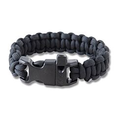 "Combat Ready 8"" Black Survival Bracelets"