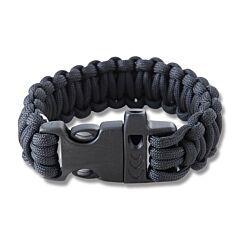"Combat Ready 9"" Black Survival Bracelets"
