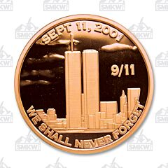 9/11 Never Forget Copper Round