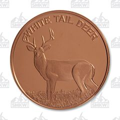 White Tail Deer Copper Round