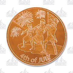 Spirit of 4th of July Copper Round