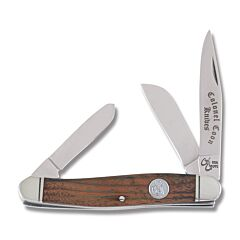 "Colonel Coon Stockman 3.75"" with Walnut Handles and 420 Stainless Steel Plain Edge Blades"