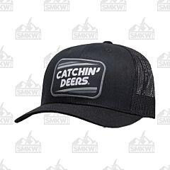 Catchin Deer Black Retro Patch Hat