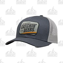 Catchin' Deers Charcoal Vintage Patch Mesh Hat