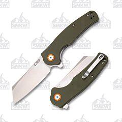 CJRB Cutlery Crag G-10 Green